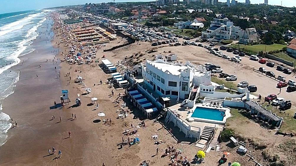 Vista aérea de Pinamar.