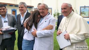 Francisco recibió en privado a jóvenes de Scholas Occurrentes