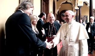 Ricardo Gareca saludó al Papa Francisco en Perú