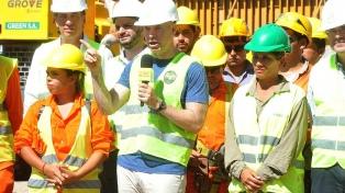 Rodríguez Larreta visitó las obras del viaducto del tren San Martín