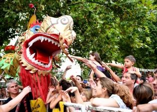 Se realizó una regata con botes de dragones en conmemoración al festejo