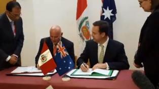 """""""El TLC con Australia entrará en vigor en medio año"""", dijo el ministro de Comercio"""