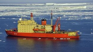El rompehielos Irízar cruzó un mar congelado de 460 kilómetros