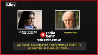 """""""Mandalo al frente a Massa, por favor"""", le pide Cristina a Parrilli en otra escucha"""