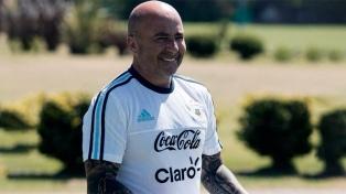 Sampaoli llegó para asumir en el Santos