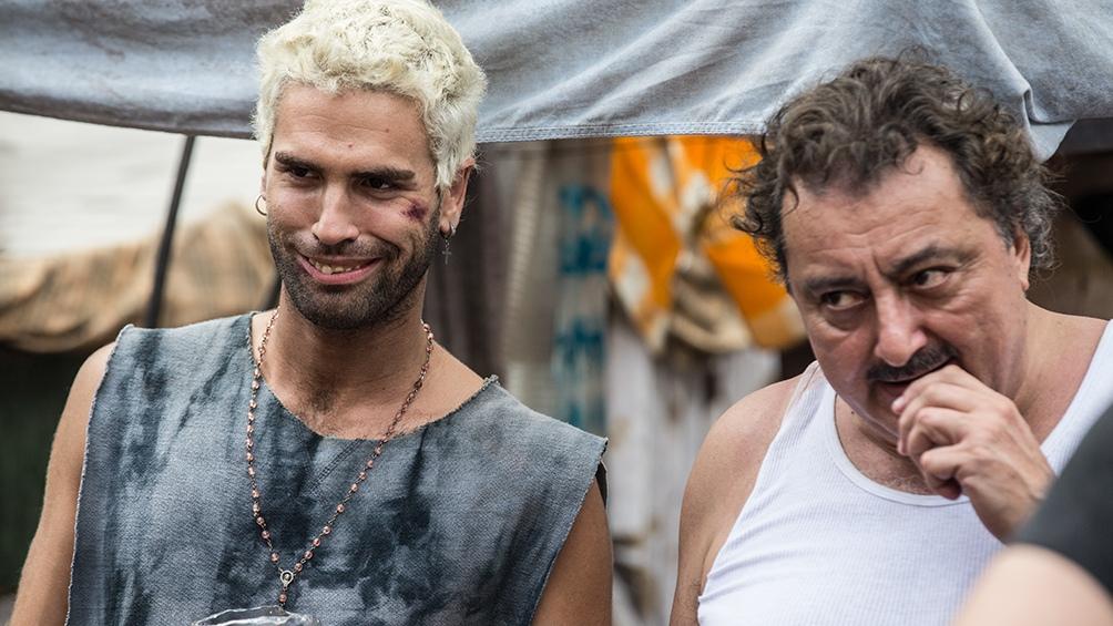 Nicolás Furtado (Juan Pablo 'Diosito' Borges) y Claudio Rissi (Mario Borges).