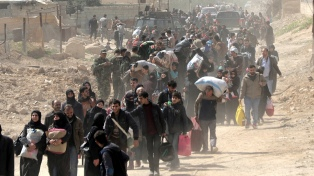 La ONU denuncia más de 235 mil desplazados por los bombardeos