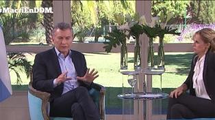 """Macri: """"Si la gente decide que tengo que continuar, estaré"""""""
