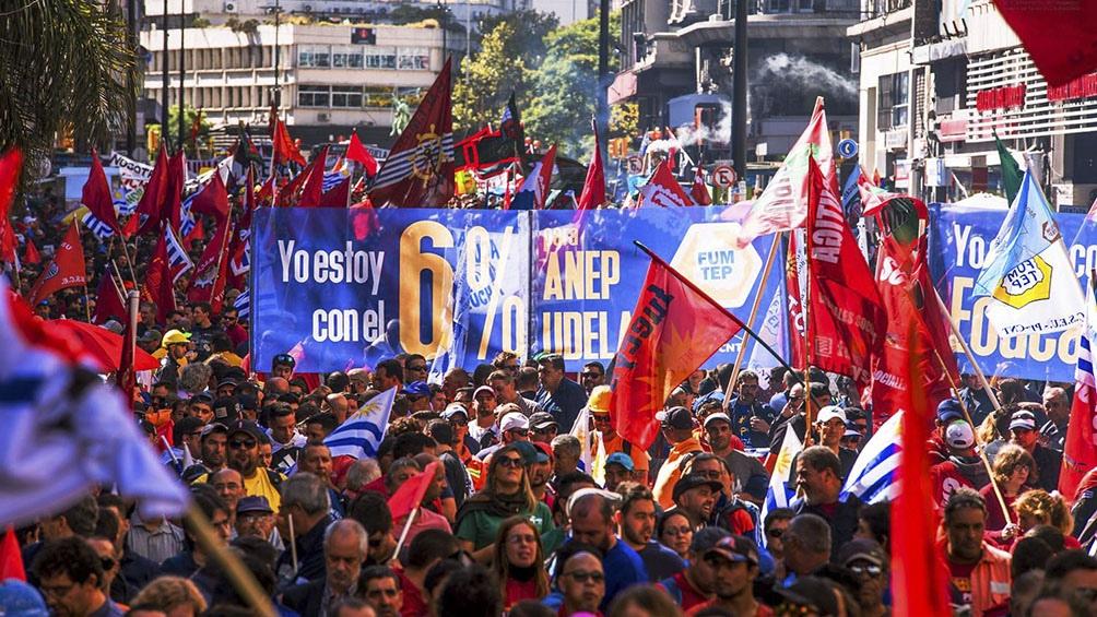 El paro será con movilizaciones y arrancará a las 10 de la mañana en Montevideo.