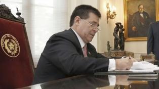 Cartes vetó parcialmente un proyecto de ley sobre pérdida de investidura para los legisladores
