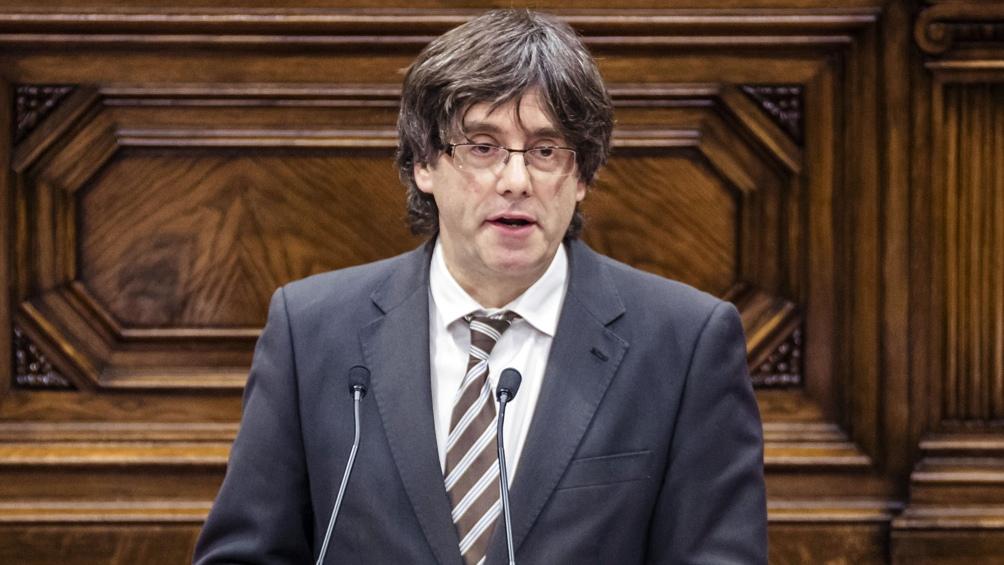 El expresidente regional Carles Puigdemont es cabeza de lista de JxC.