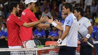 """Pella y """"Machi"""" González cayeron en dobles y Argentina quedó al borde del abismo"""