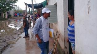 Unas 30 personas permanecen evacuadas a causa de las lluvias en Palpalá