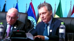 Macri condenó el uso de armas químicas e hizo un llamado a preservar la paz y la seguridad