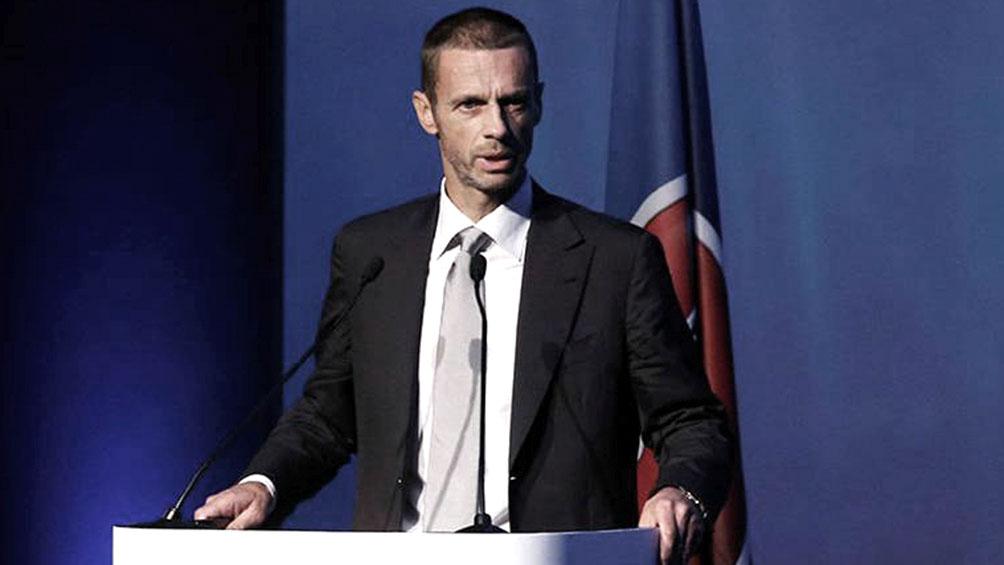 El presidente de UEFA vaticina que el fútbol con espectadores volverá pronto
