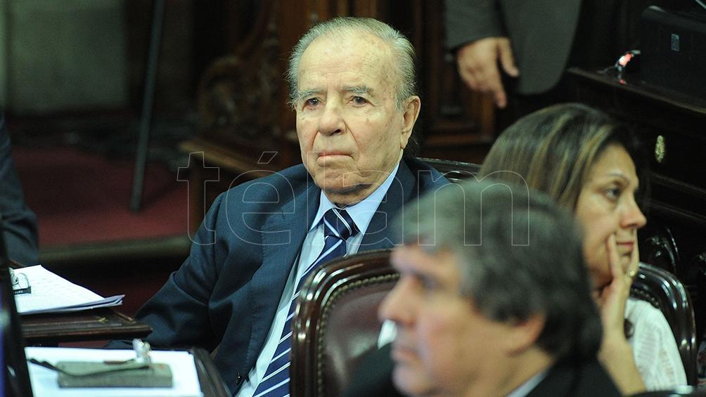 La ex esposa de Menem Cecilia Bolocco envió un comunicado de condolencias