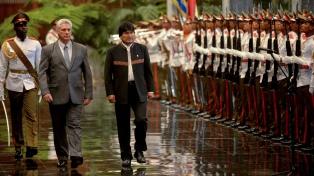 Díaz-Canel recibió a Evo Morales en La Habana