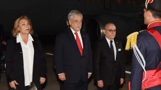 Piñera llegó a Buenos Aires y este jueves analizará con Macri la agenda bilateral