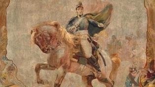 Un histórico tapiz del general San Martín llega al Museo Nacional de Bellas Artes