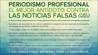 Medios digitales argentinos colocan mensajes contra las noticias falsas
