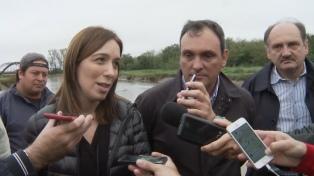 """""""El cambio también llegó a las obras"""", dijo Vidal al recorrer trabajos hidráulicos"""