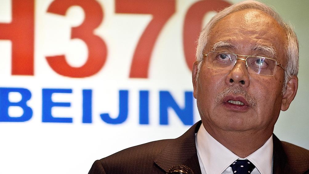 Najib Razak, el primer ministro saliente del derrotado Frente Nacional (BN)