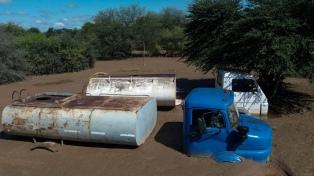 El sedimento y el barro tras la crecida del Pilcomayo enterró viviendas en la provincia