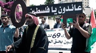 Duelo y protestas en Cisjordania en el 70 aniversario del inicio del éxodo palestino
