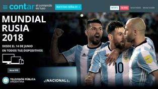 """Lanzaron """"Cont.ar"""", una plataforma que también permitirá ver los partidos del Mundial"""