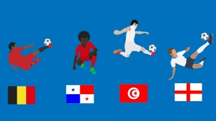 Grupo G: Inglaterra, Bélgica, Túnez y Panamá