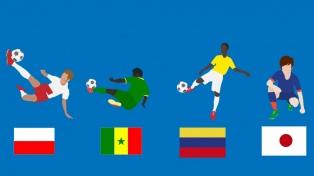 Grupo H: Colombia, Polonia, Japón y Senegal