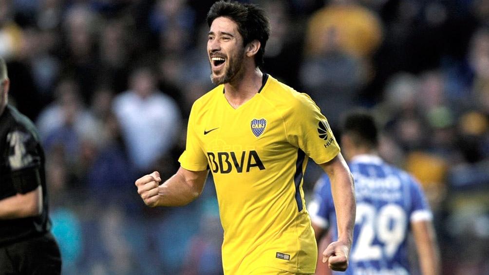 Pablo Pérez en su época de Boca, donde llegó a ser capitán del equipo.