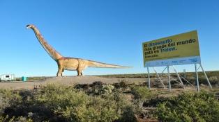 El mayor dinosaurio del mundo promocionará el turismo paleontológico en la Argentina