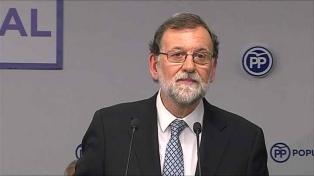 Rajoy renunció a la presidencia del Partido Popular