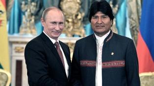 Putin se reúne en el Kremlin con Evo Morales