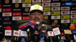"Dorados autorizó a Maradona a retornar más tarde ""por razones médicas"""