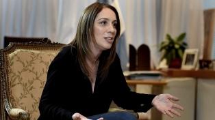 Un grupo de sindicalistas realizó un escrache a la gobernadora Vidal