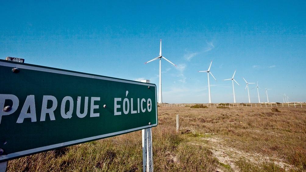 Un parque eólico instalado en Puerto Madryn.
