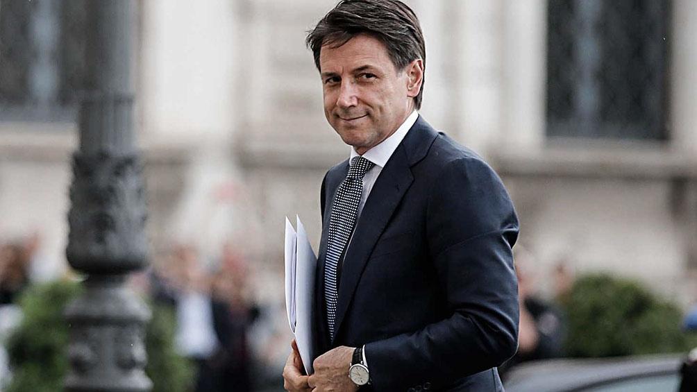 Giuseppe Conte, presidente del Consejo de Ministros de Italia desde junio de 2018
