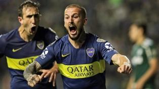 Boca le ganó a Palmeiras y sacó ventaja en la primera semifinal