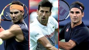 Nadal, Djokovic y Federer se mantienen en el podio del ATP mundial