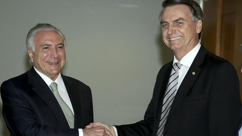 Michel Temer y Jair Bolsonaro