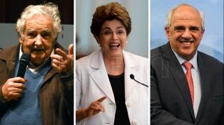 """Dilma Rousseff, José Mujica y Ernesto Samper visitan la Argentina para una """"contracumbre"""" del G20"""