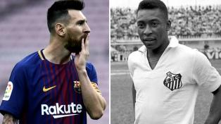 Messi le agradeció el mensaje a Pelé tras igualar su récord