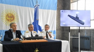 """Aguad aseguró que se """"harán todos los esfuerzos"""" para saber qué pasó con el submarino"""