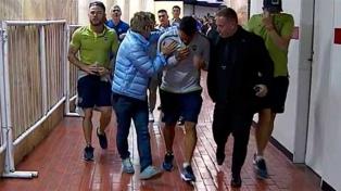 Incidentes en el arribo de Boca al estadio