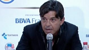"""Gallardo: """"Queremos ganar el partido y hay que aprovechar en ataque"""""""