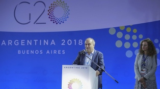 """Para Lombardi, la cumbre es """"la oportunidad de transmitir nuestra marca país al mundo"""""""