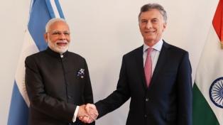 Macri recibió en Olivos al primer ministro de la India y a su par de Corea