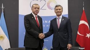 """Macri y Erdogan buscan """"dinamizar el intercambio comercial y tecnológico"""" con Turquía"""
